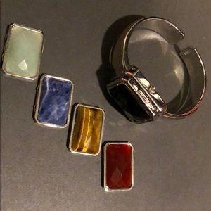 Jewelry - Watch bracelet with exchangeable decorative stones